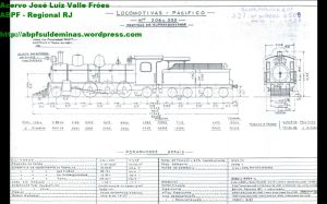 Desenho técnico Locomotiva 327
