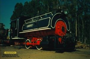 Locomotiva 2, na regional de Campinas da ABPF