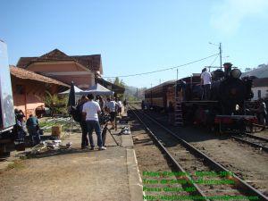 Equipe de Filmagem na Estação de Passa Quatro