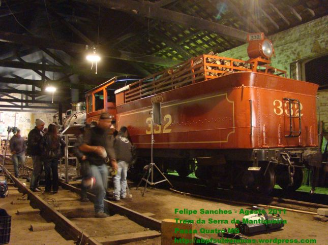 Filmagens no Interior do Galpão de Locomotivas