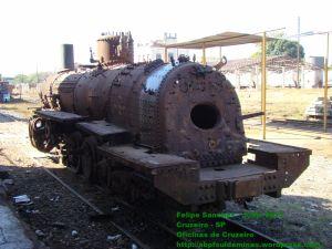 Caldeira da locomotiva já com água
