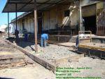 Preparando o piso para receber o concreto