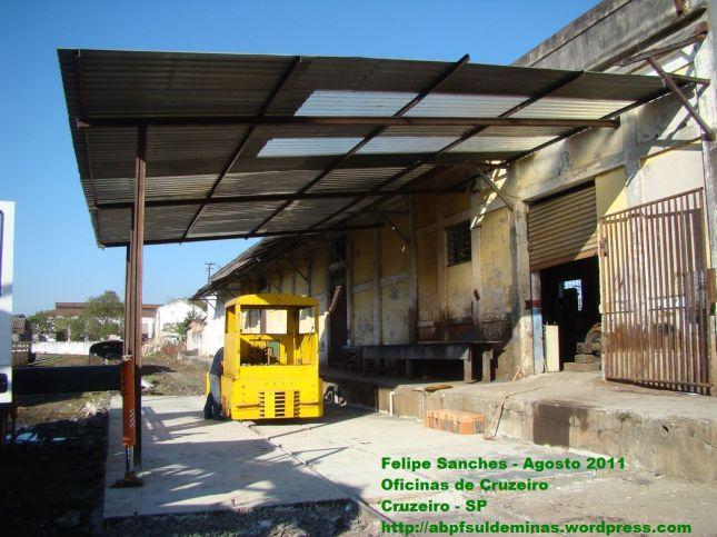Nova área de trabalhos das oficinas de Cruzeiro