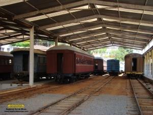 Visão geral do depósito após retirada dos carros para formação da composição do Trem das Águas