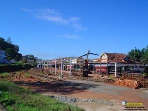 Inicio da construção das oficinas