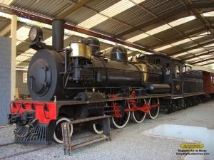 Locomotiva 327 antes do inicio dos trabalhos