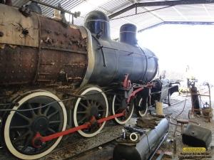 Aspecto da locomotiva sem passadiço e tanques de ar