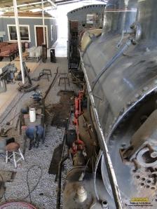 Vista superior da locomotiva