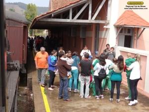 Parte do grupo na estação de Passa Quatro