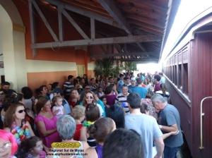 Chegada na estação de Passa Quatro, edição de 2013
