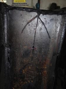 Detalhe da furação no encaixe das telhas