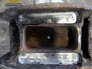 Reservatórios de óleo após usinagem