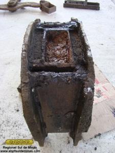 Detalhe dos compartimentos de óleo