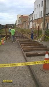 Inicio do construção da rampa