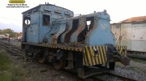 Locomotiva 167, guardada no pátio da ABPF