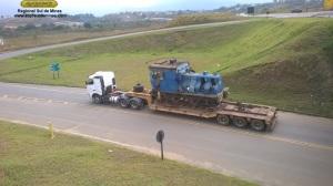 No trevo da copa, indo fazer o retorno para pegar a estrada sentido Cruzeiro