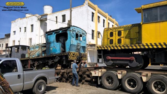 """Desembarque da """"Joana"""": a Sentinel 167 foi utilizada como """"vagão madrinha"""" entre a """"Camila"""" e ela"""