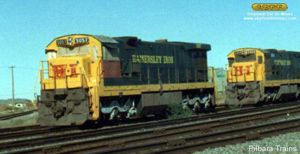 Foto da 5057 já fora de serviço na Austrália, recolhida em Dampier em julho de 1998 – foto publicada no site Pilbara Trains.