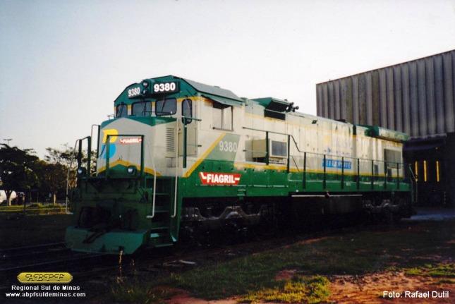 A 5057, agora 9380 saindo da reforma, pronta para entrar em operação na Ferronorte. Foto: Rafael Dutil