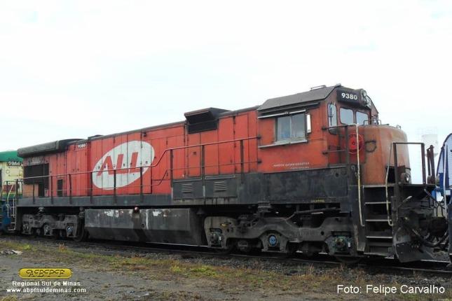A 9380 em Itirapina, em 21/08/2018, pouco antes de ser retirada de serviço. Foto: Felipe Carvalho